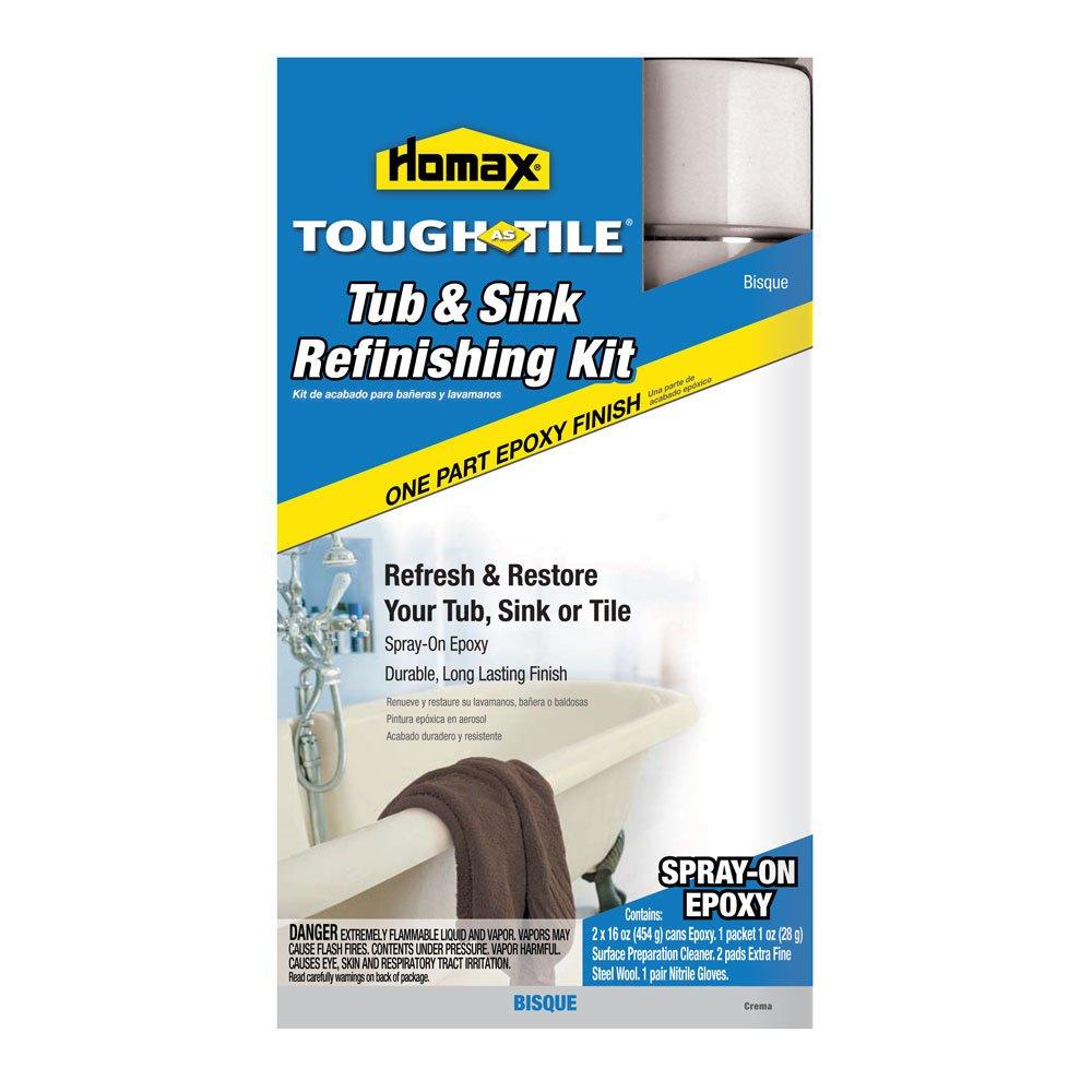 Amazon.com: Tough As Tile Epoxy Finish, Spray On Kit, Bisque: Health U0026  Personal Care