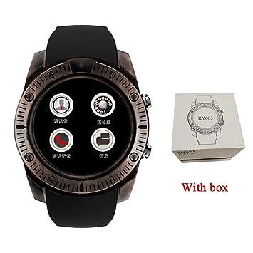 Pasómetro KY03 Vintage Relojes Inteligentes Android Hombres Smartwatch Android Dispositivos Portátiles para El Teléfono Samsung Huawei