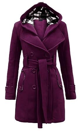 188d6661788 Amazon.com  Noroze Womens Check Hood Plus Size Duffle Coat  Clothing