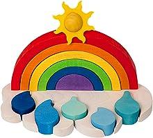 Clevere Kids Lernspielzeug Regenbogen 8 in1 Holzspielzeug