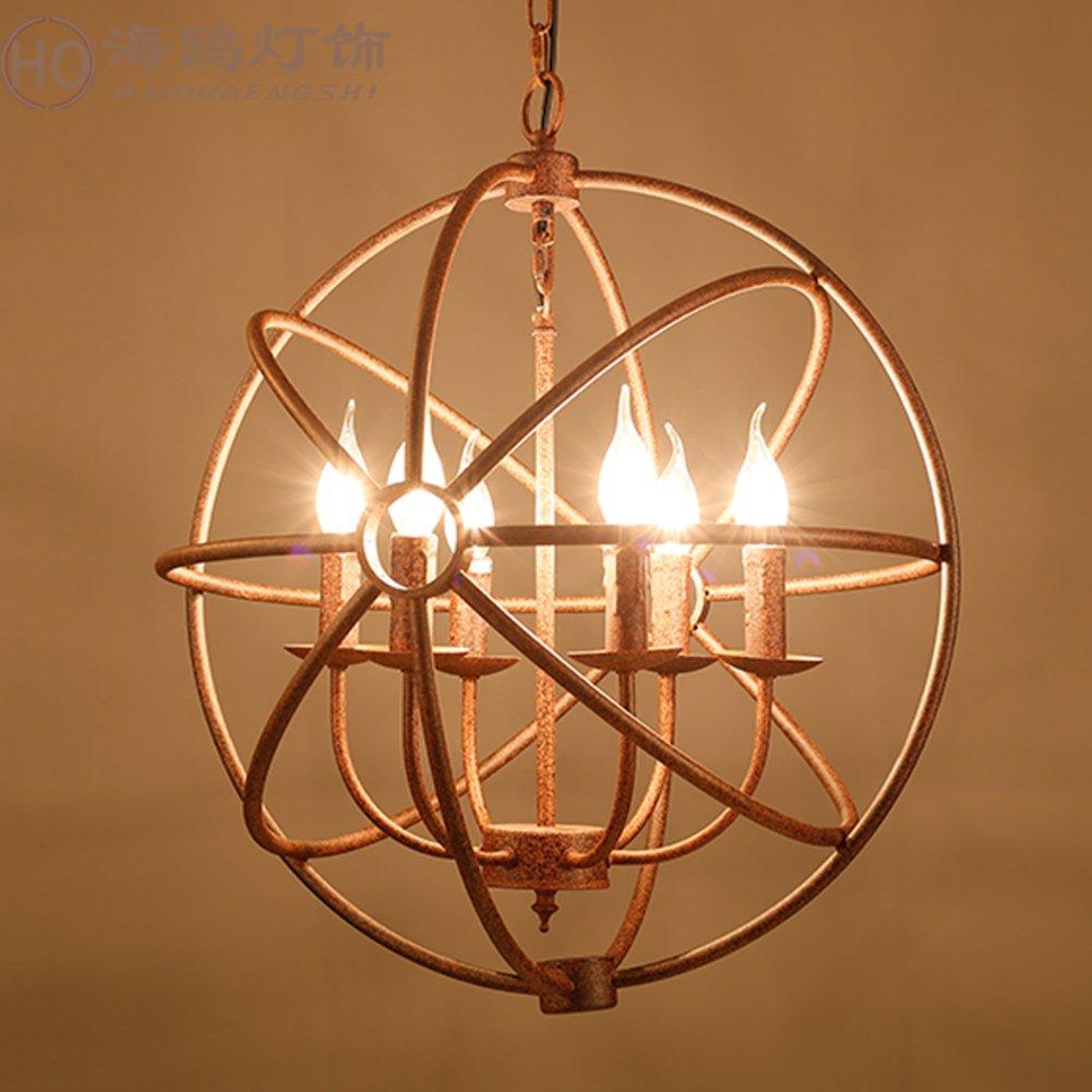 Vendimia El hierro Mundo Lámpara chandelier,Led Lámpara colgante ...