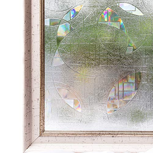 CottonColors Window Film 35.4x78.7 Inches 3D Ecology Non Toxic Static Decoration for UV Rejection Heat Control Energy Saving Privacy Glass Stickers