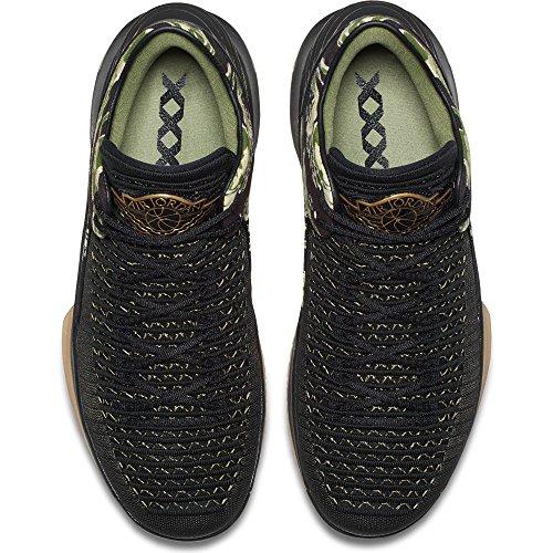 Nike Air Jordan Xxxii Nero Tessile / Sintetico Scarpe Da Basket Nero (nero / Oro Metallizzato / Gomma Gialla)
