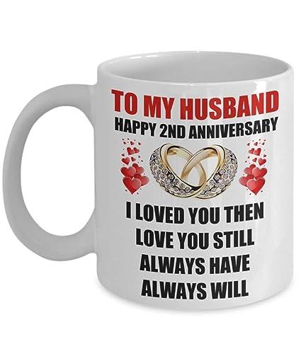 Amazoncom Gift For Husband 2nd 2 Year Wedding Anniversary Coffee