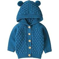 K-Youth 0-24 Meses Suéter Bebé Niño Recién Nacido Ropa Bebe Niño Invierno Abrigos con Capucha Punto Jersey Chaqueta para…
