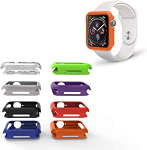 REEDCALE 8 Color Packs Bumper Case Cover for 38mm Apple Watch Series 3, Series 2, Series 1 (38mm) …