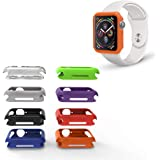 REEDCALE Cover Bumper Case with 8 Color Pack for Apple Watch SE Apple Watch Series 6/5/ Series 4 (40mm) …