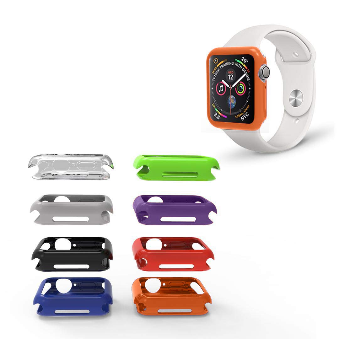 REEDCALE Cover Bumper Case with 8 Color Pack for Apple Watch Series 5/ Series 4 (40mm)