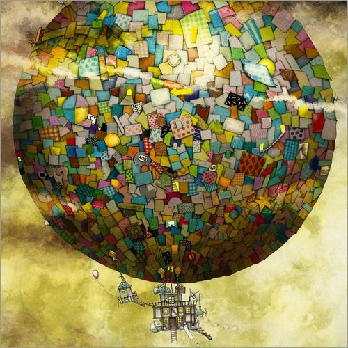 Posterlounge Acrylic print 30 x 30 cm: Up, up and away by Colin Thompson/MGL Licensing