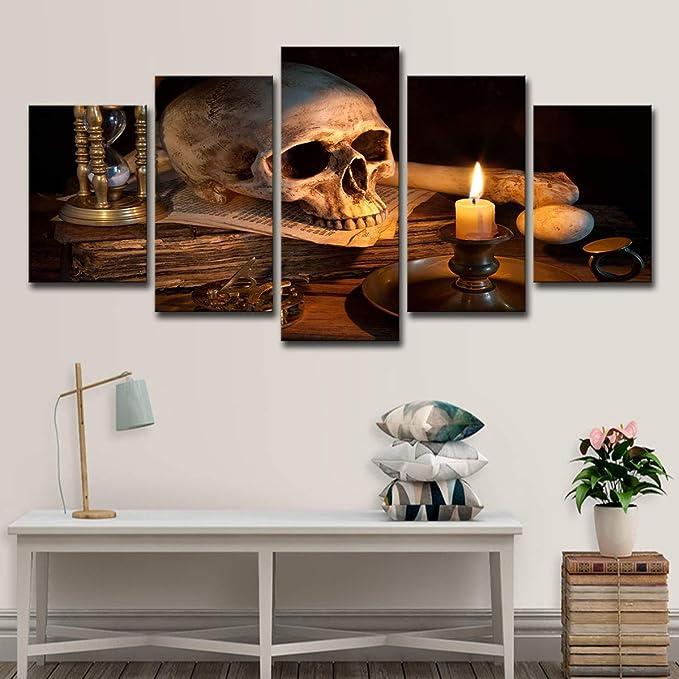 Acheter tableau peinture tete de mort online 20