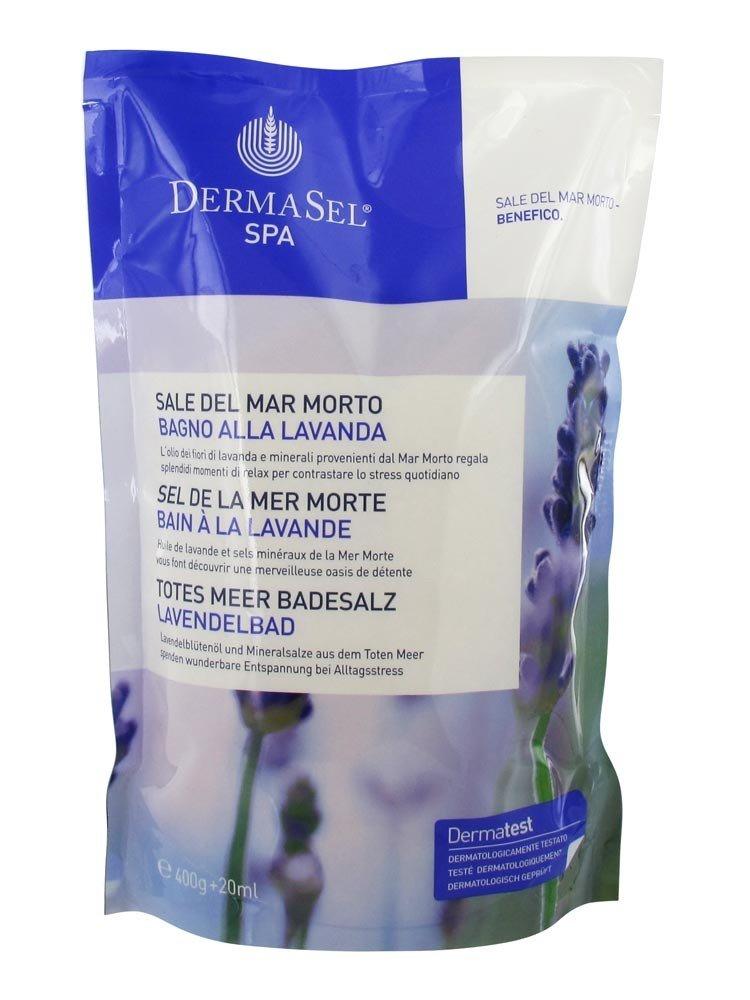 DermaSel Spa Dead Sea Bath Salt Lavender 400g by Dermasel