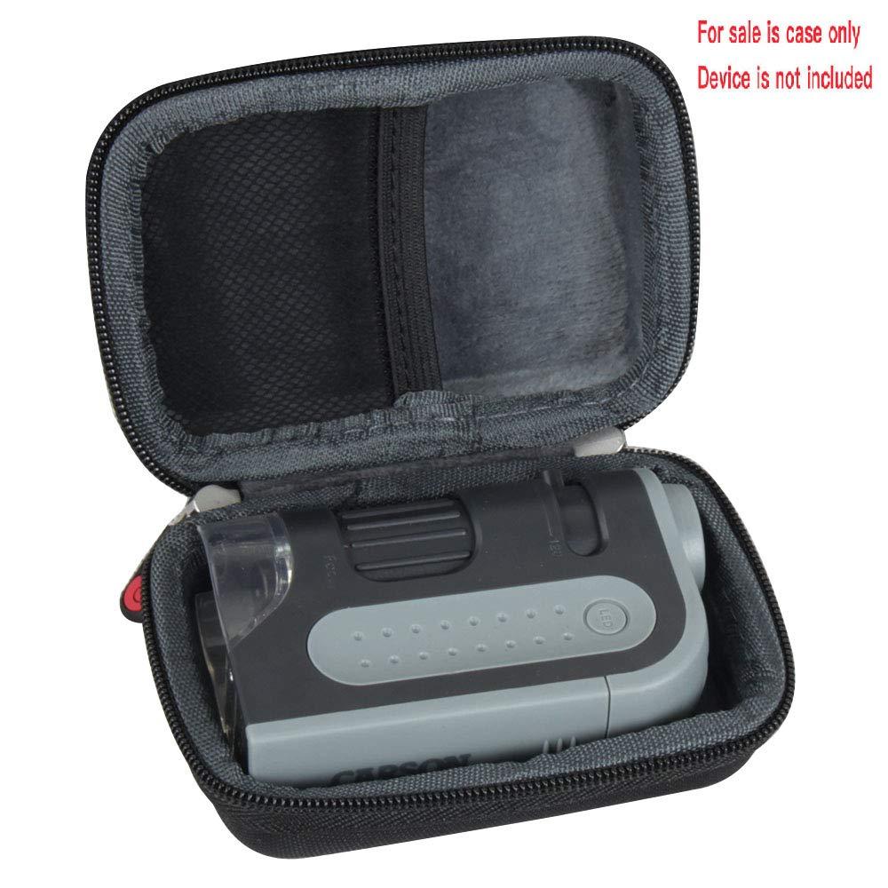 Hermitshell duro custodia da viaggio per Carson Microbrite Plus 60/x mm-300 120/x Power LED illuminato microscopio tascabile