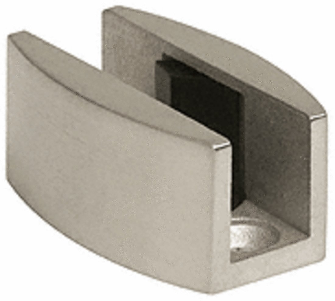 C.R. LAURENCE LS307BS CRL Brushed Stainless Laguna Series Adjustable Bottom Floor Guide