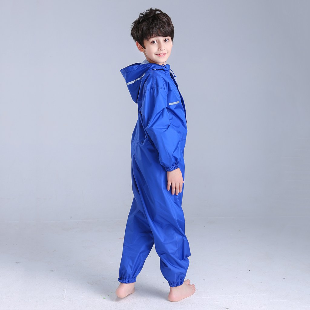 Jili Online Unisex All-in-one Waterproof Rain Suit Boys /& Girls Splash Puddle Suit