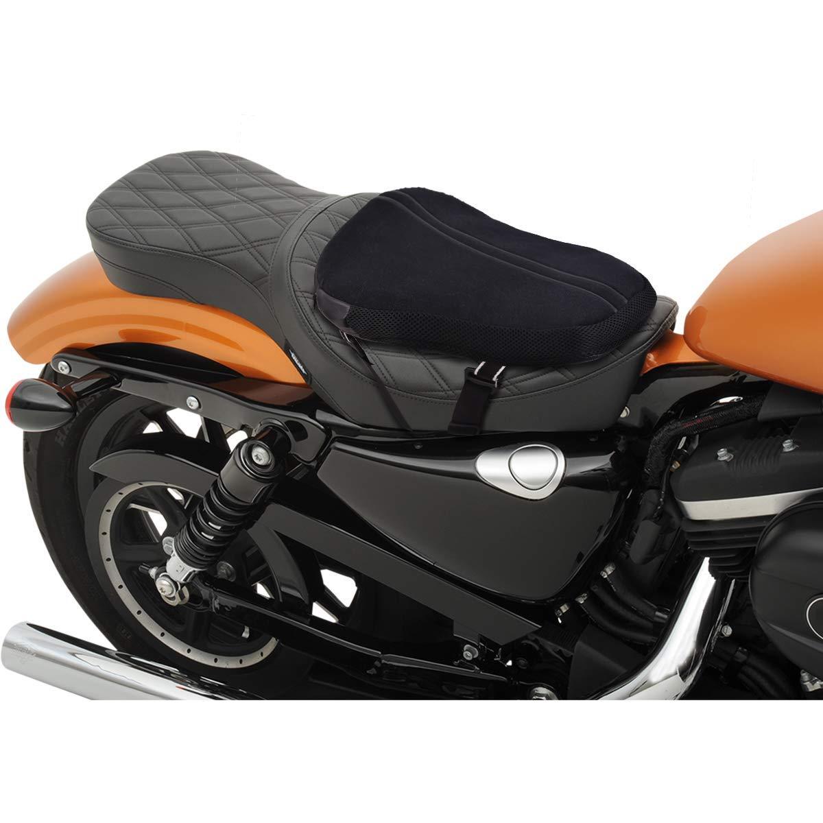 Coussin Selle Moto,Selle Moto S 29,2 x 22,9CM Universel Cruiser Si/ège Air Moto Coussin dair Moto pour Sport Touring pour Yamaha Honda Suzuki Kawasaki Ducati Aprilia Coussin de Moto