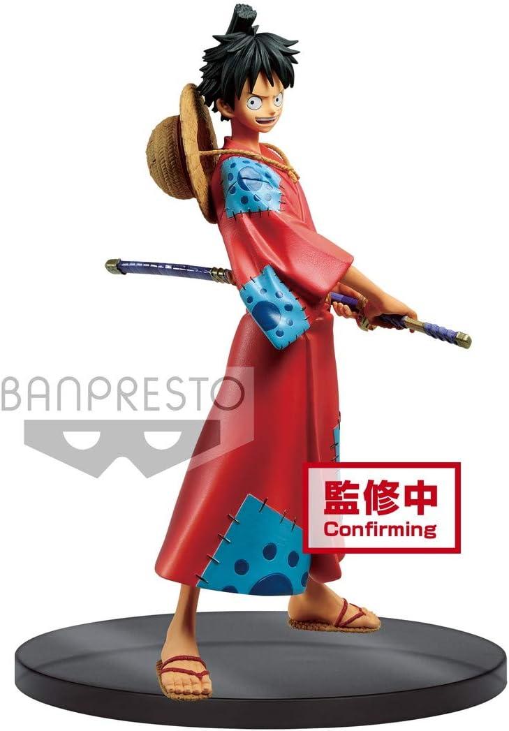 Banpresto Onepiece DXF The Grandline Men Wanokuni Vol.1 Monkey D. Luffy, Multiple Colors