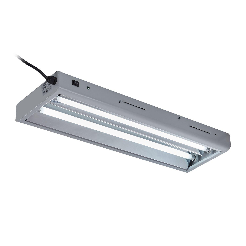 Oppolite T5 2FT//24W 2-lamp Fluorescent Ho Bulbs 6500K for Indoor Horticulture Gardening T5 Grow Lights Fixtures 6500K 2-Lamp 2FT//24W