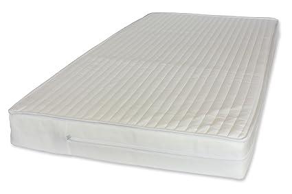 NightyNite cuna colchón con lujo de microfibra (130 x 70 x 10 ...