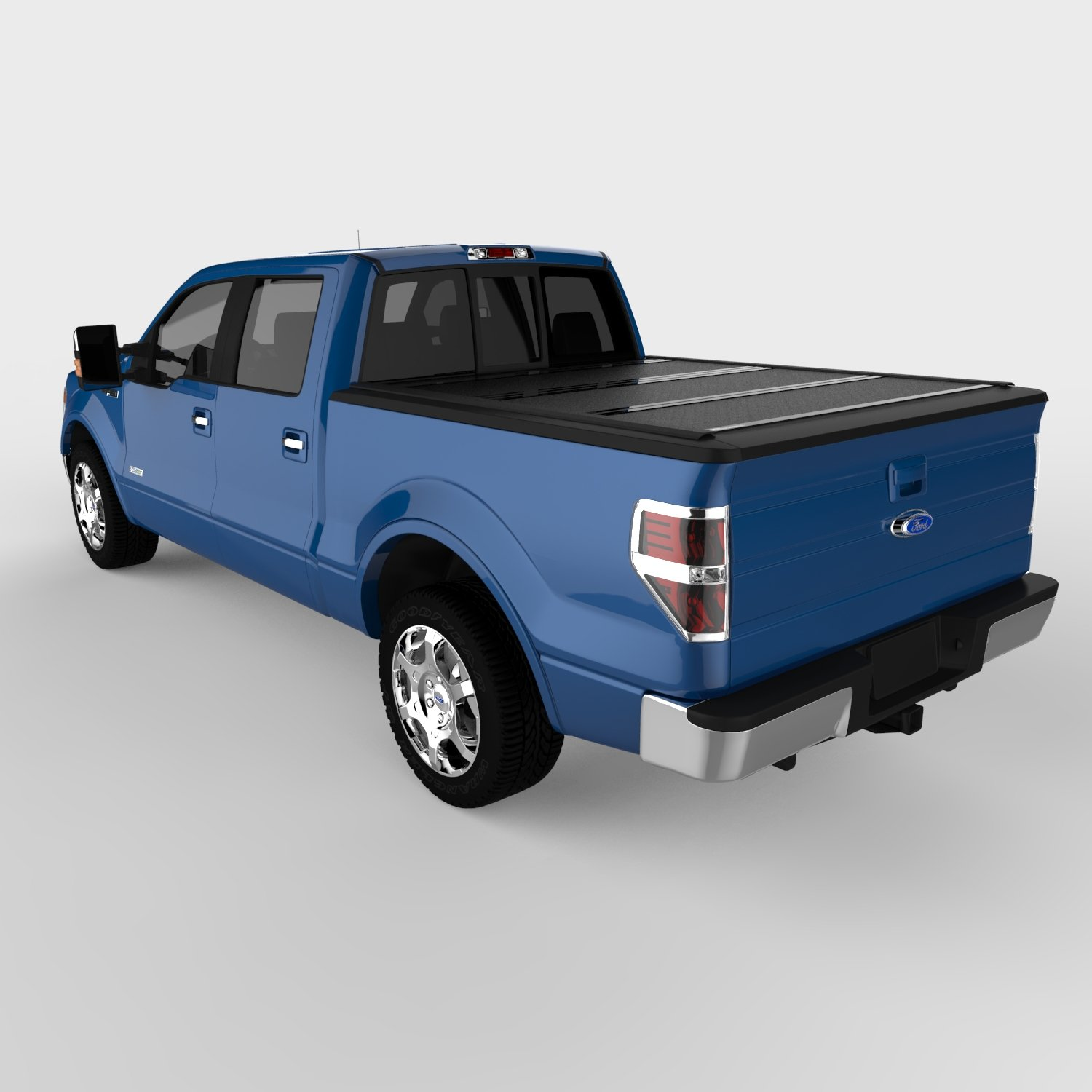 Amazon com undercover fx21002 flex hard folding truck bed cover 2004 2014 f 150 super crew 5 5ft short bed crew automotive