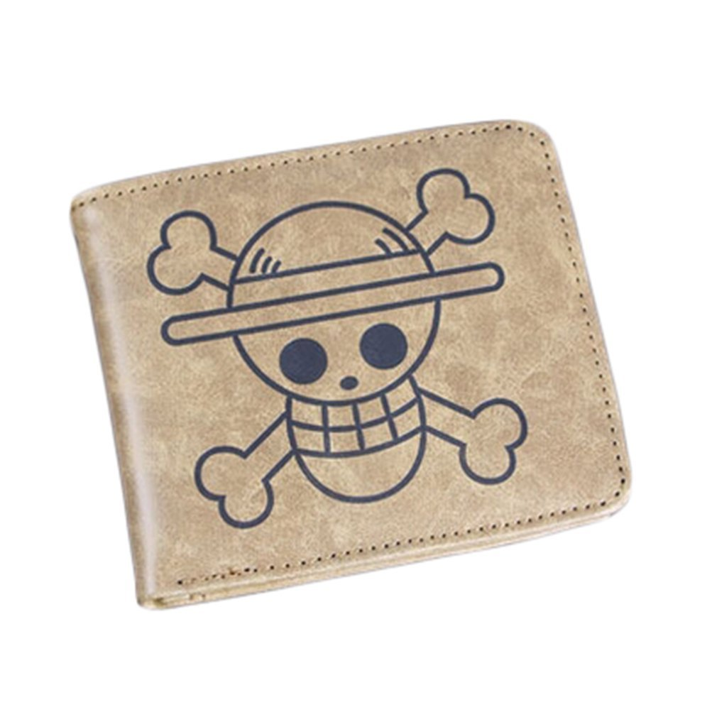 Rains PanOne Piece Sunny Ship Anime PU Leather Bifold Short Brown Wallet
