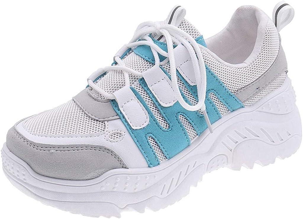 Luckycat Zapatillas de Mujer Zapatos de Corriendo Calzado Casual y Deportivo Volador Tejido Colchón de Aire Estudiante Net para Correr Deportivos de Cuña Mujer Sneakers Cuña Interior Talón Plataforma: Amazon.es: Ropa y