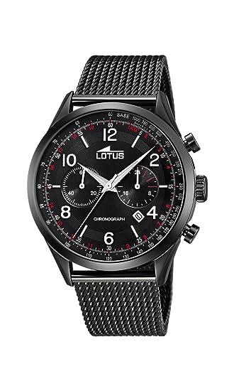 Lotus Watches Reloj Cronógrafo para Hombre de Cuarzo con Correa en Acero Inoxidable 18556/1: Amazon.es: Relojes