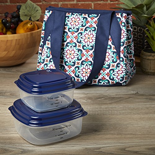 fit-fresh-clearwater-insulated-lunch-bag-with-reusable-container-set-talavera-tile