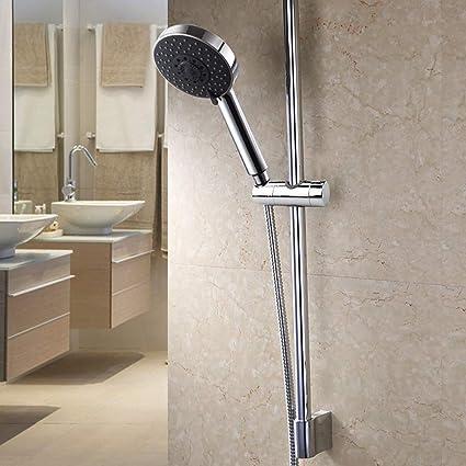 argento Guida di scorrimento ABS diametro 22mm Supporto universale per braccio doccia di ricambio per doccia scorrevole membrana da 22mm