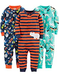 Boys' 3-Pack Snug Fit Footless Cotton Pajamas