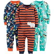 Simple Joys by Carter's Boys' 3-Pack Snug Fit Footless Cotton Pajamas