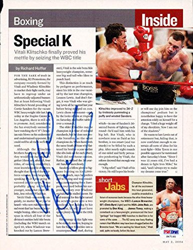 Vitali Klitschko Authentic Autographed Signed Magazine Page Photo S47165 PSA/DNA Certified Autographed Boxing Magazines