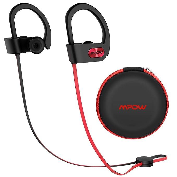 1d3ded00df6 Mpow Flame Upgraded Bluetooth Headphones with Case, IPX7 Waterproof Wireless  Earphones Sport W/Mic