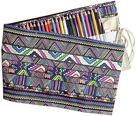 School Pencil Case 36//48//72//108 Holes Roll up Pencil Bag Portable Pencil Box School Supplies Material Escolar RedSonics 48 Holes