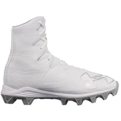 a409c07bfd23 Under Armour Highlight RM Youth Lacrosse Cleat - White Metallica Silver - 4