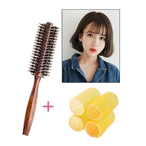 Señoras hebilla rizadores de cabello rizados de pelo corto rodillos grandes no lastimar las olas rodar