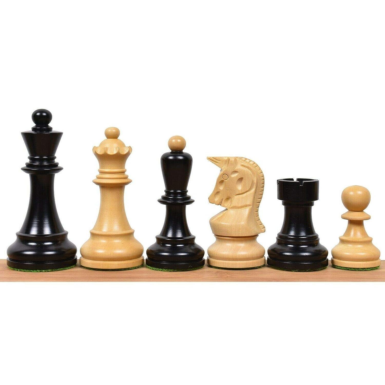 disfruta ahorrando 30-50% de descuento RoyalChessMall -1950 -1950 -1950 Reproducción de 3.7  Piezas de ajedrez Bobby Fischer de Dubrovnik en Madera ennegrecida  hasta 60% de descuento