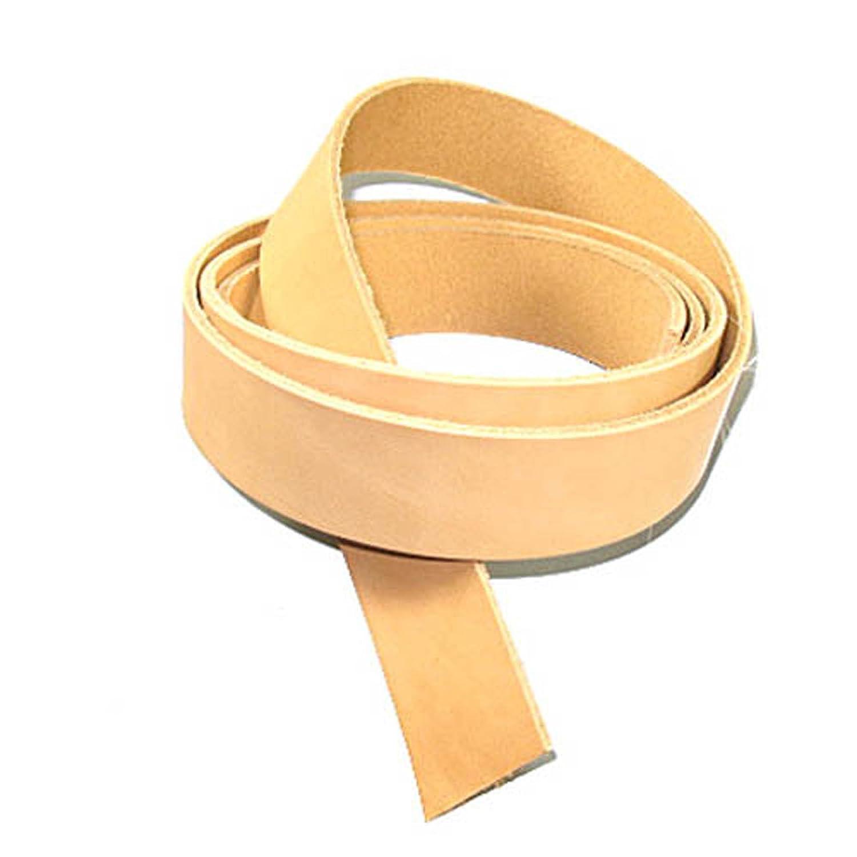 Genuine 7/8oz Cowhide Strips Vegetable Tan Belt Blank Leather Strip 46-52 (3/8 to 4) (1-1/2 (38mm)) Zelikovitz 40-50-04