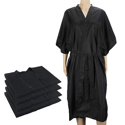 4pcs batas negras de kimono, vestido de masaje Segbeauty Spa, uniforme para el cliente