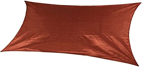 Coolaroo Ready-to-hang Rectangle Shade Sail Canopy, Terracotta – 13ft x 7ft