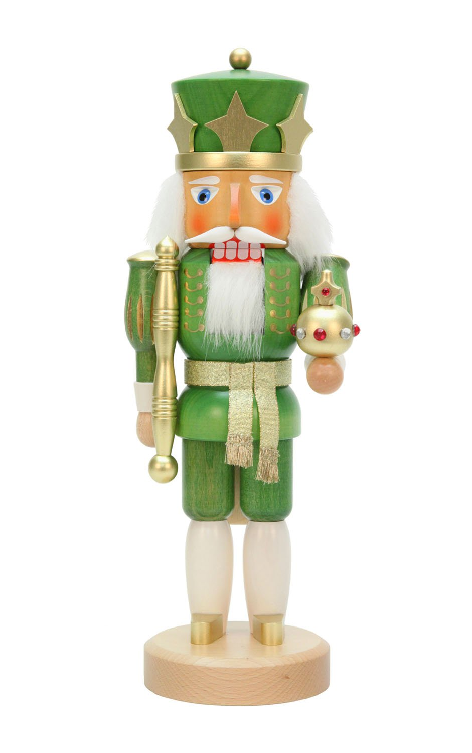 Alexander Taron Christian Ulbricht Decorative Green King Nutcracker