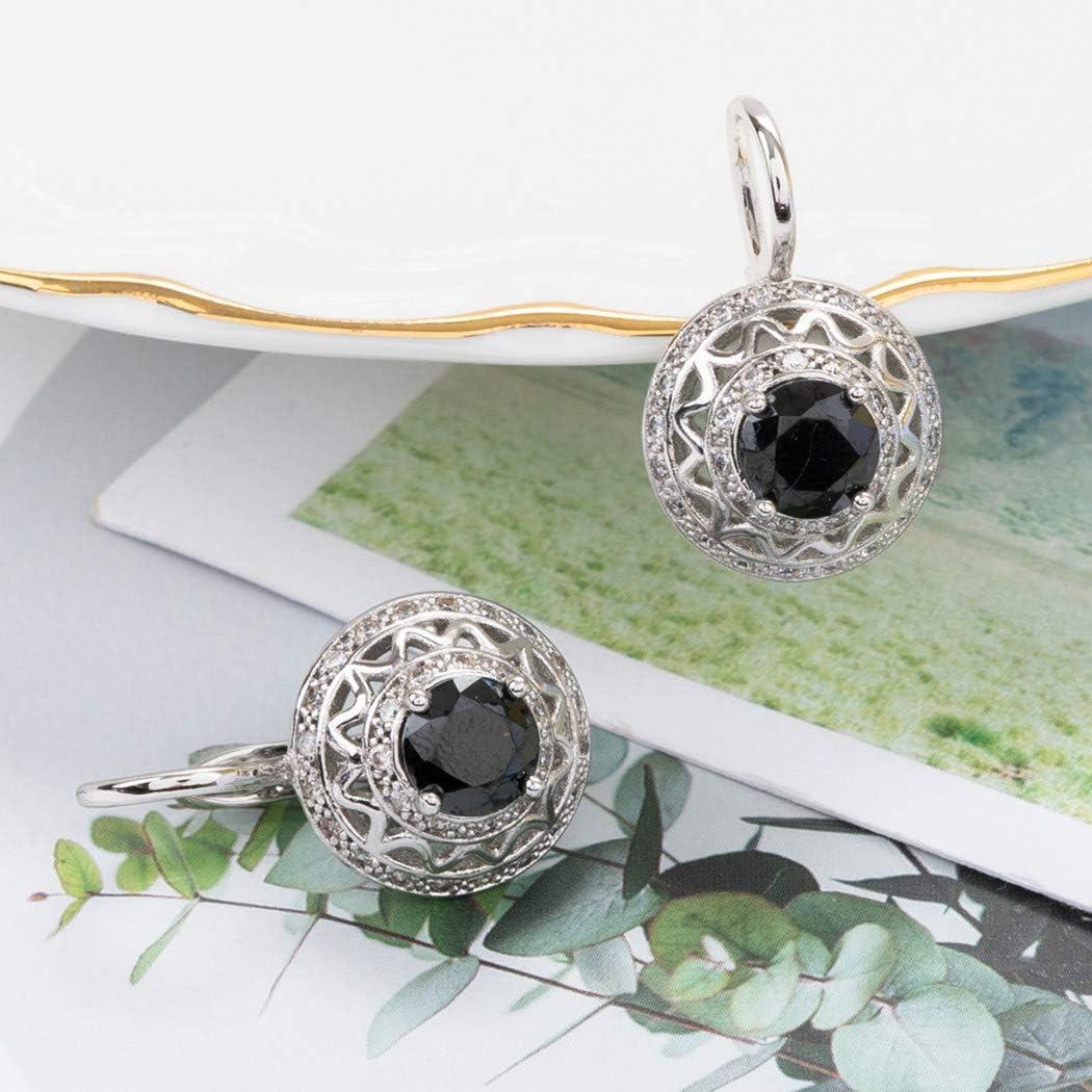 DHMK Teardrop Drop Dangle Earrings Crystal Rhinestone Hoops Earrings Bridal Gift Earrings for Women Girls Party Hoop Earring