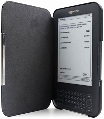 hibote Amazon Kindle 3 (Kindle Keyboard) 6 Negro Funda de cuero ...