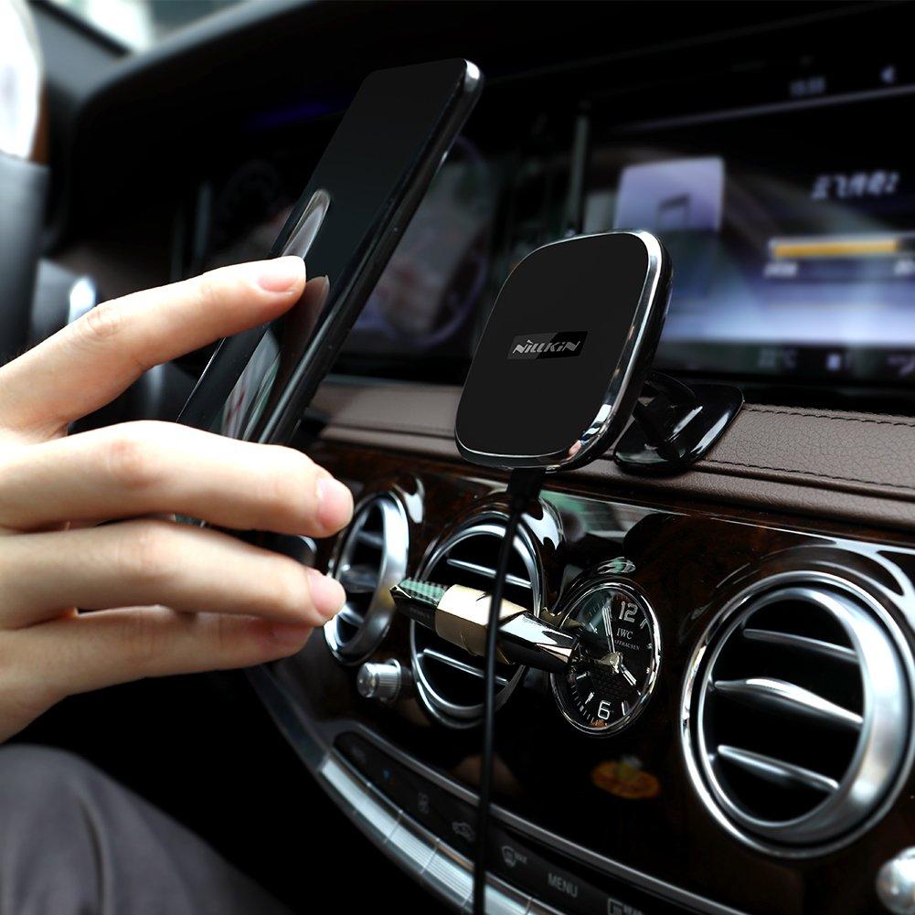 Nillkin 2-in-1 Qi Caricatore senza fili di ricarica e supporto magnetico per auto per Samsung Galaxy Note 8 S8 S8 Plus e iPhone X// 8//8 Plus e altri dispositivi Qi Caricatore Wireless Auto