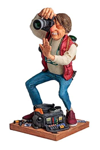 The Photographer Figurine Comic Art Of Guillermo Forchino 15.5 Inch Tall
