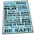 Homebody Accents Pool Rules Decorative Metal Sign