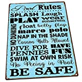 pool rules sign Pool Rules Metal Sign, Motivational Rules, Swimming Pool Sign, Positive Thinking, Modern Decor by HBA