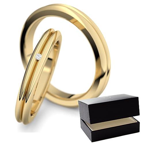 alianzas de alianzas Oro Set Circonita Amistad Anillos par de precio Plata Anillos Partner de gran calidad Dorado de bodas (par boda anillos Pareja alianzas ...