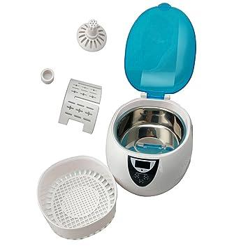 UC06LB Limpiador Ultrasónico, Equipo de Limpieza por Ultrasonidos con Temporizador de 50W, para dentaduras
