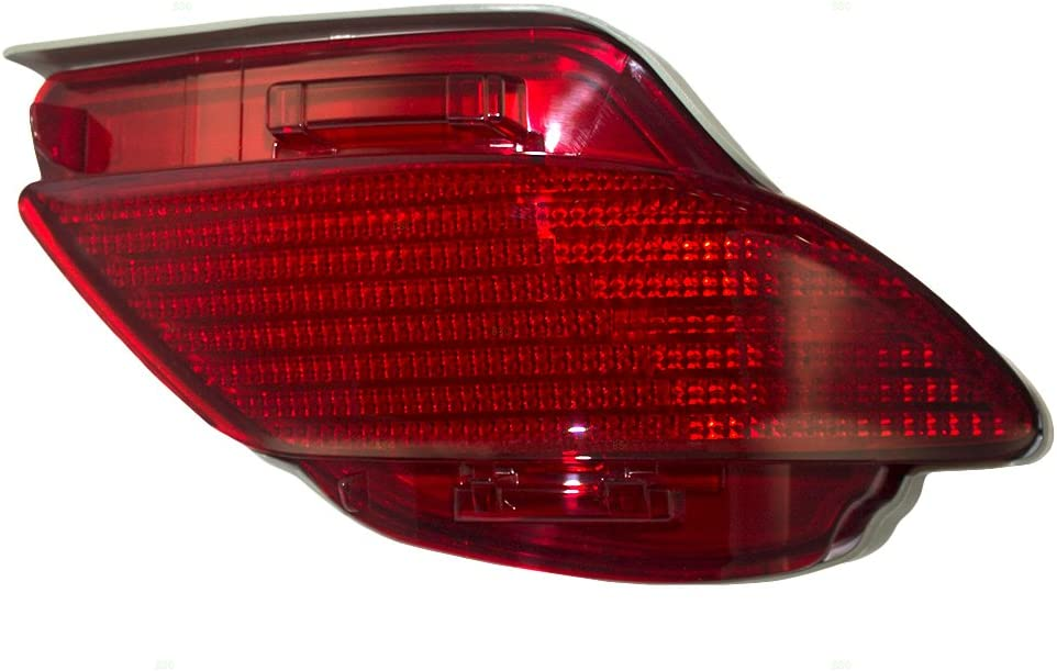 For Lexus is 250//IS 350 2006-2013 Rear Reflector Lamp Unit Pair Driver and Passenger Side LX1184100 LX1185100