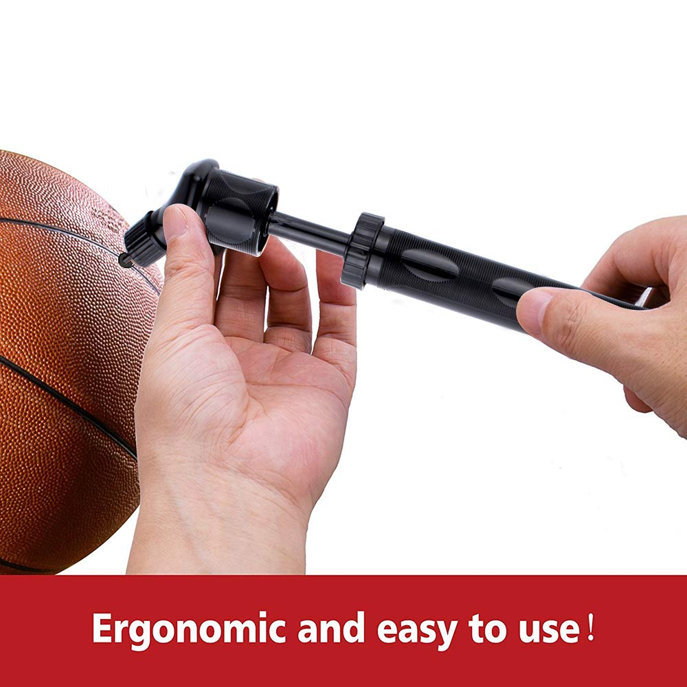 Xelparuc Small Dual Action Ball Pump - Air Pump for Inflatables with Needle for Basketball, Volleyball, Soccer, Football, and Sport Ball Inflation - 2 Extra Inflating Needles by Xelparuc (Image #5)